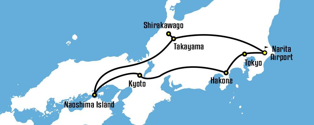 Day Pass Honeymoon Sample Itinerary Japan Rail Pass - Japan map naoshima